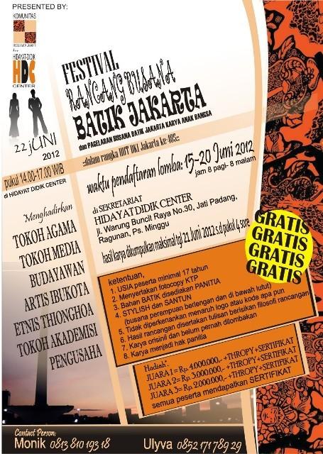 Festival Rancang Busana Batik Jakarta