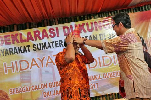 Masyarakat Sumsel di Jakarta Alihkan Dukungan untuk Hidayat-Didik