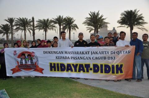 Warga Jakarta di Qatar Ikut Mendukung Hidayat-Didik untuk Pimpin Ibukota