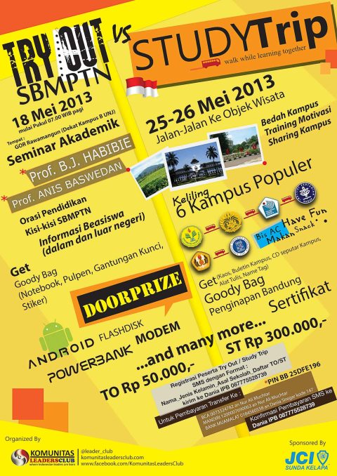 Try Out & Study Trip KLC 2013